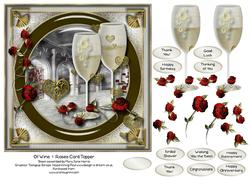 Of Wine & Roses Card Topper 2