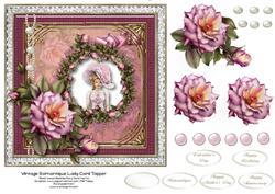 Vintage Romantique Lady Card Topper