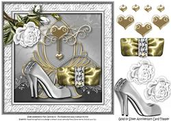Gold or Silver Anniversary Card Topper