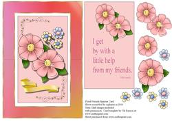 Floral Friends Spinner Card