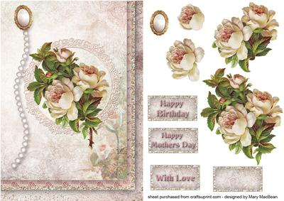 Antique Roses Shabby Chic Decoupage Card - CUP386544_1648 ...