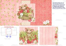 Strawberry Mouse Swing Card