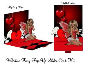 Valentine Fairy Pop Up Slider Card Kit