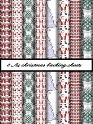 8 A4 Christmas Background Sheets