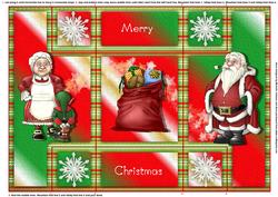 Santa and Family Tri Fold Shutter Card