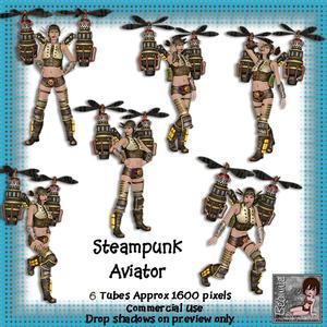 6 Steampunk Aviator Poser Tubes