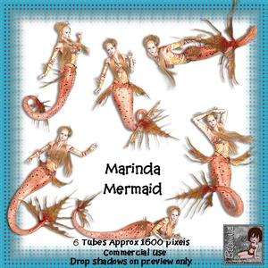 6 Marinda Mermaid Poser Tubes
