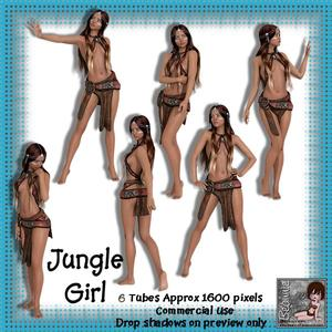 6 Jungle Girl Poser Tubes