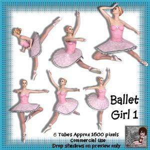 6 Ballet Girl Poser Tubes 1