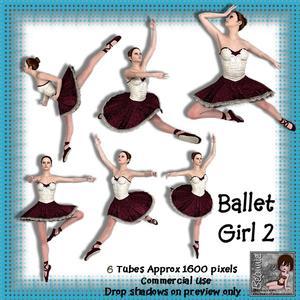 6 Ballet Girl Poser Tubes 2