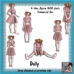 6 Dolly Poser Tubes