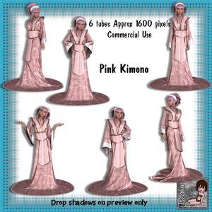 6 Pink Kimono Poser Tubes