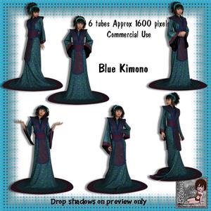 6 Blue Kimono Poser Tubes