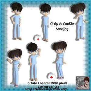 Chip & Cookie Medic Poser Tubes