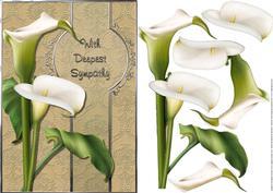 Sympathy Calla Lilies Card Front