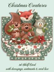 Christmas Creatures 3D Shelf Card Kit