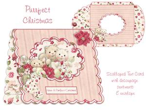 Purrfect Christmas Scalloped Tent Card Kit