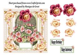 Soft Pink Roses and Poppies