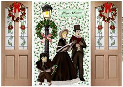 Christmas Vintage Carolers Gatefold