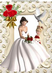 Bride with Her Bridesmaid with Red Roses A4