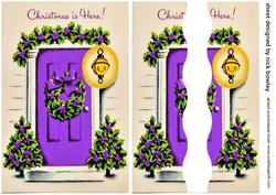 Lovely Purple Front Door with Holly Side Stacker
