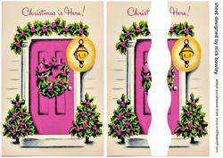 Lovely Pink Front Door with Holly Side Stacker
