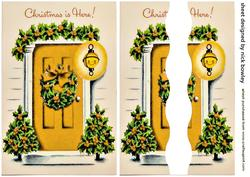 Lovely Gold Front Door with Christmas Holly Side Stacker