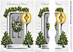 Lovely Silver Front Door with Holly Side Stacker