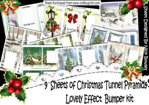 9 Sheets of Christmas Tunnel Pyramids, Bumper Kit