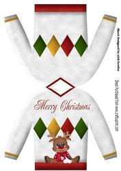 Jumper Christmas Card with Reindeer