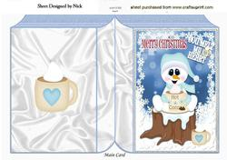 You Melt My Heart, Snowman with Hot Choc Folded Book