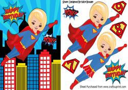 Super Girl! Up Up and Away, Flying in the City