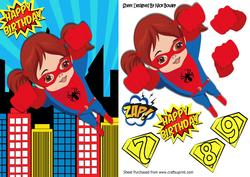 Flying High! Super Spider Girl in the City
