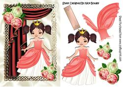Pretty Princess with Drapse and Roses