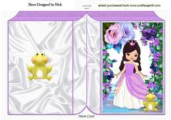 Princess with Fantasy Flowers and Frog Folded Book