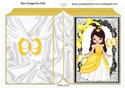 Princess Summer in Her Golden Dress with Butterflies,book