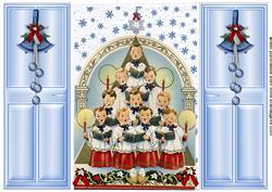 Choir of Christmas Angels Singing, Gatefold