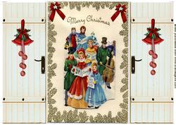 Vintage Christmas Carol Singers, Gatefold