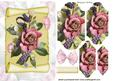Roses on a Scroll with Butterflies Bracket Pyramids