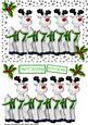Santas Reindeers with Holly in Star Frame