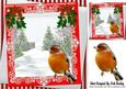 Christmas Tree and Snow with Robin, Bows with Holly 8x8