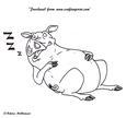 Happy Sleeping Pig