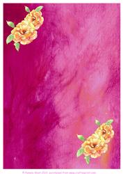 Silk with Roses Background Sheet