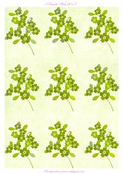 Green Floral Background Sheet