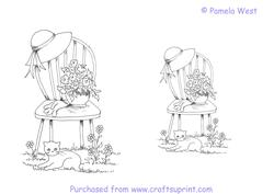 Chair in the Garden Digistamps