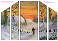 A Walk in the Snow Theatre Fold Card