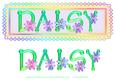 Daisy Name Card Topper