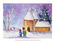 Oast Houses in Snow Original Watercolour Painting