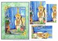 Gardening Bear by the Potting Shed Step by Step Decoupage