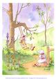 Original Watercolour Painting, on the Swing